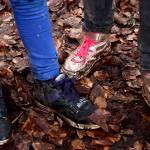 Der nasse und matschig Boden ging nicht spurlos an den Schuhen vorbei.