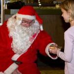 Michelle ist beim Nikolaus.