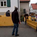 1) Aufbau der Hütte am 14.12.18